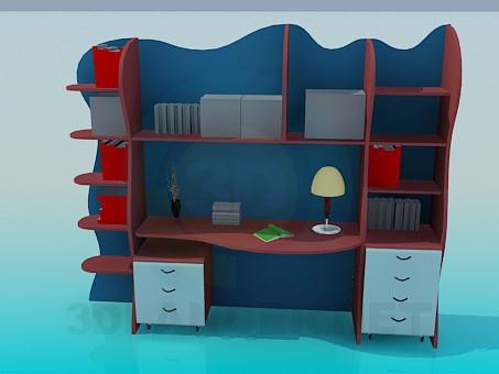 3d modeling Desk for students model free download