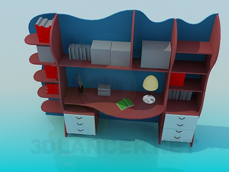 3d model Desk for students - preview
