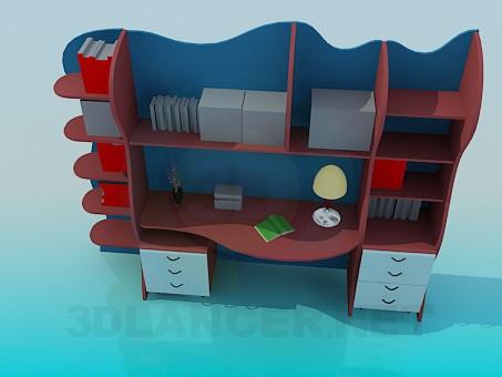 3d модель Письменный стол для школьника – превью