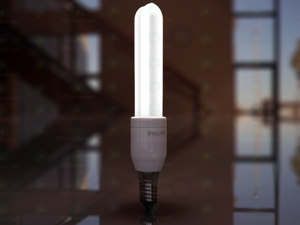 3d model Energy saving lamp Philips - preview