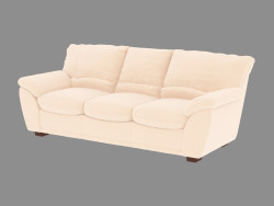 Sofá-cama clássico triplo