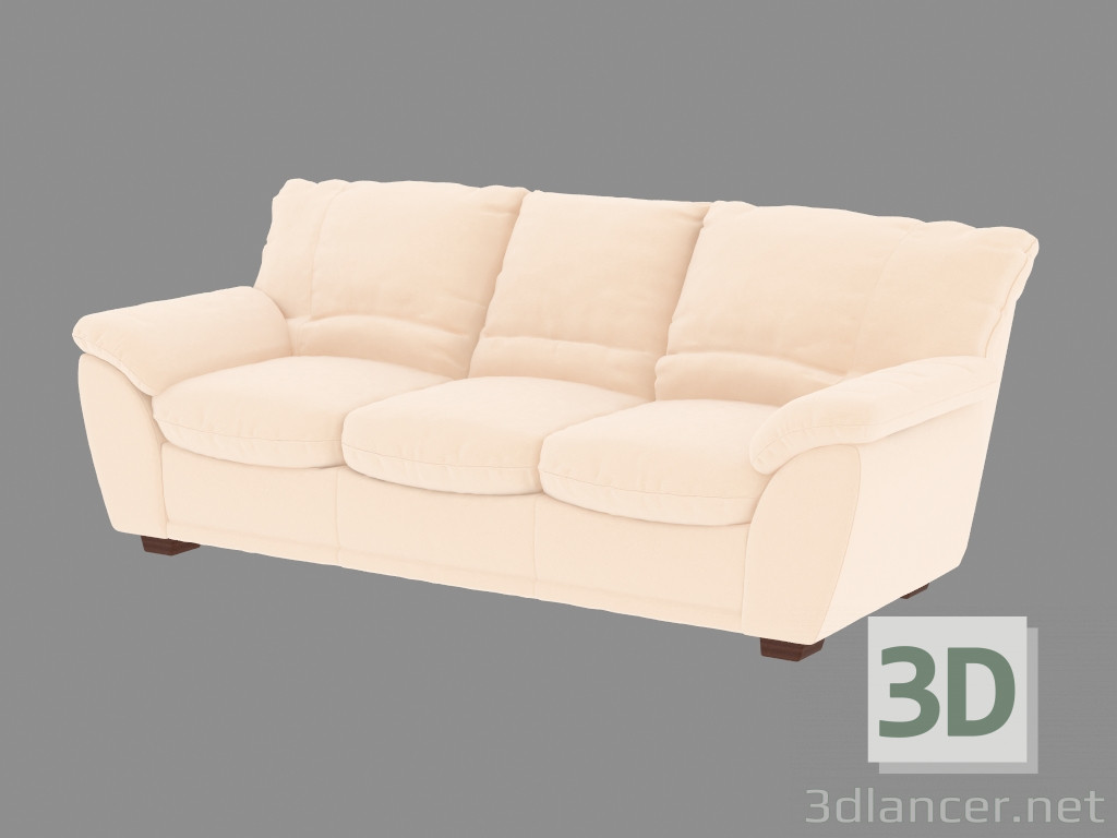 3d model sofa bed triple classic manufacturer pushe in the for Sofa bed 3d model