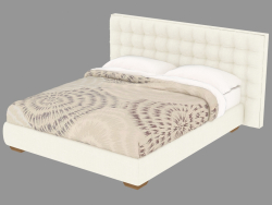 Double bed with leather upholstery Sanya