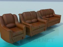 Sofa with chair