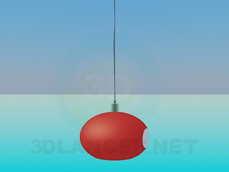 3d modeling Oval luminaire model free download