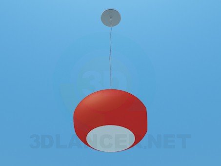 3d model Oval luminaire - preview
