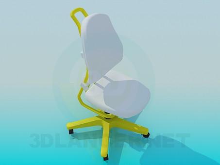 modelo 3D Silla de ruedas - escuchar