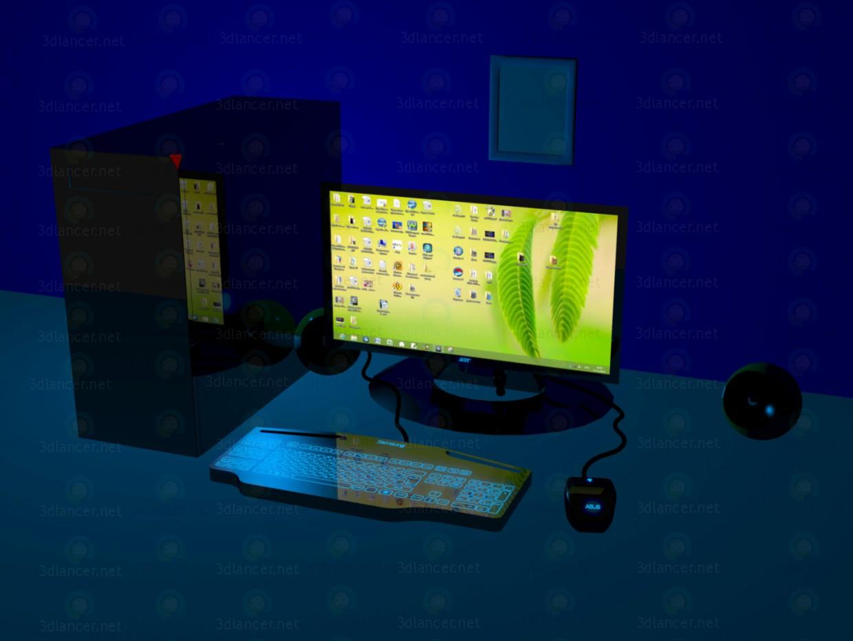 3D-Modellierung Ein Computer! Modell kostenlos herunterladen
