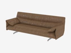 sofás de couro Triplo