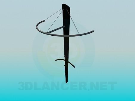 modelo 3D Suspensión en la sala de - escuchar