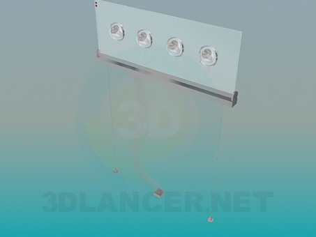3d модель Светильник подвесной – превью