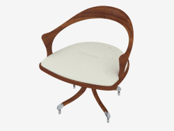 Office chair with leather upholstery (art. JSH 2204)