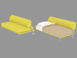 Sofa-transformer with removable upholstery Single