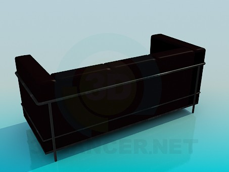 3d model Sofa dark brown - preview