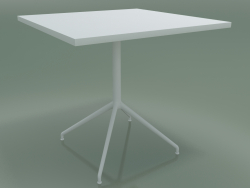 Square table 5708, 5725 (H 74 - 79x79 cm, spread out, White, V12)