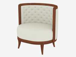 Armchair with leather upholstery (art. JSL 3706b)