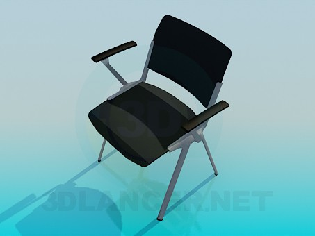 3d model Chair with armrests - preview
