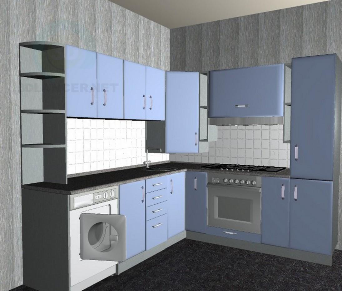 3d model Corner kitchen - preview
