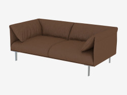 Sofa brown leather double