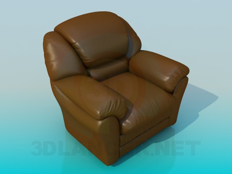 3d modeling Leather chair model free download