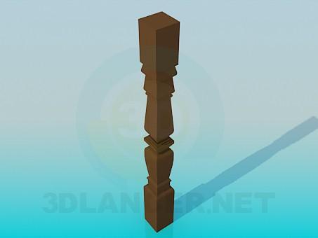 descarga gratuita de 3D modelado modelo balaustre