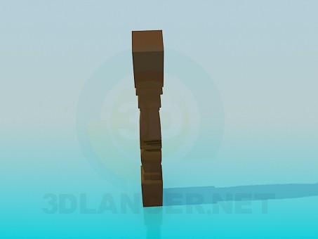 modelo 3D balaustre - escuchar