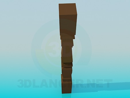 3d модель Балясина – превью