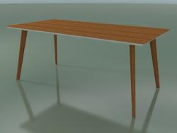 Tavolo rettangolare 3505 (H 74 - 180x90 cm, M02, effetto Teak, opzione 2)