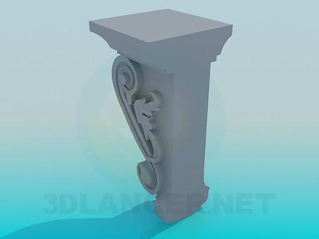 modelo 3D Decoración - escuchar