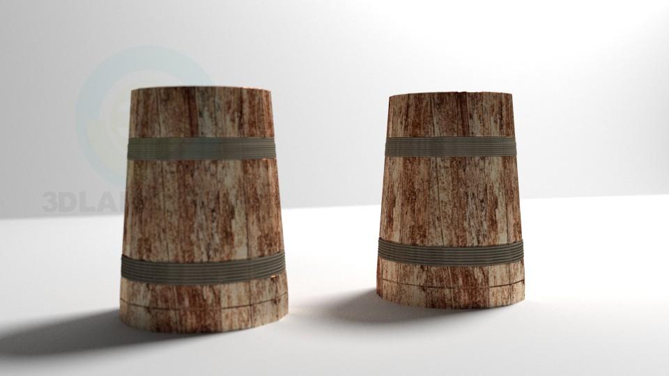 3d модель Дерев'яна пивний кухоль – превью
