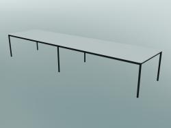 Tavolo rettangolare Base 440x110 cm (Bianco, Nero)