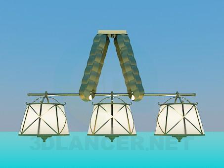 3d модель Люстра с абажурами – превью