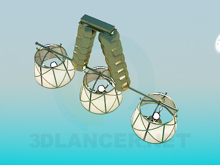3d model Chandelier with lampshades - preview
