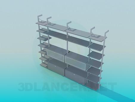 3d модель Подставка для сувениров и книг – превью