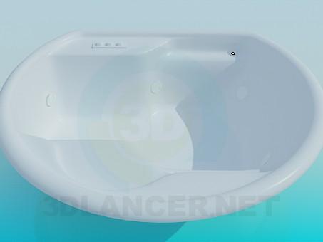 3d model Large bath - preview