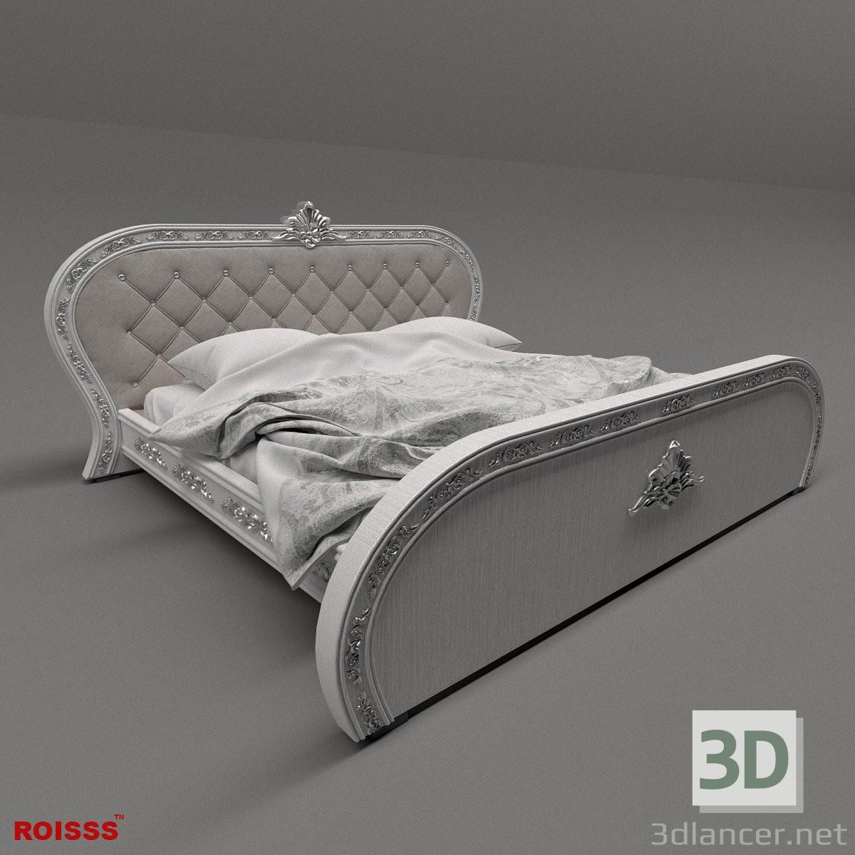 modèle 3D lit - preview