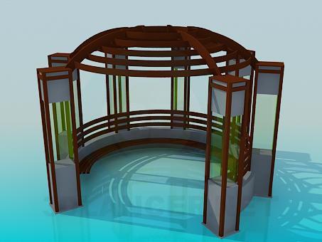 3d model Arbor - preview