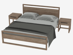 TEAK LIGHT FRAME Bed