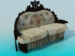 Sofa with carved