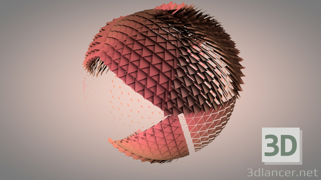 3d model sphere - preview