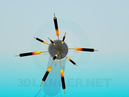 modelo 3D Cañas decorativas en un florero - escuchar