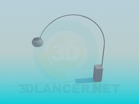 3d modeling Lamp table model free download