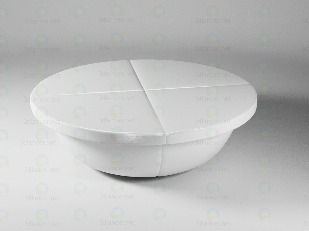 3d modeling round coffee table model free download