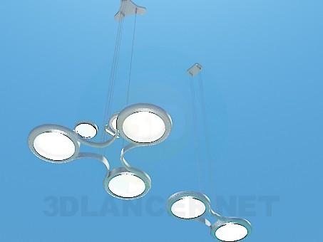 3d модель Футуристический набор освещения – превью