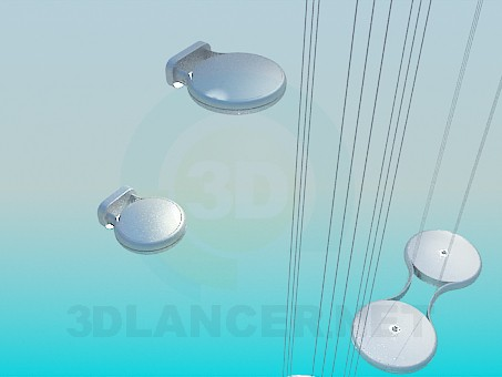 3d model Futuristic set lighting - preview