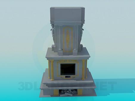 3 डी मॉडल प्लास्टर के साथ चिमनी - पूर्वावलोकन