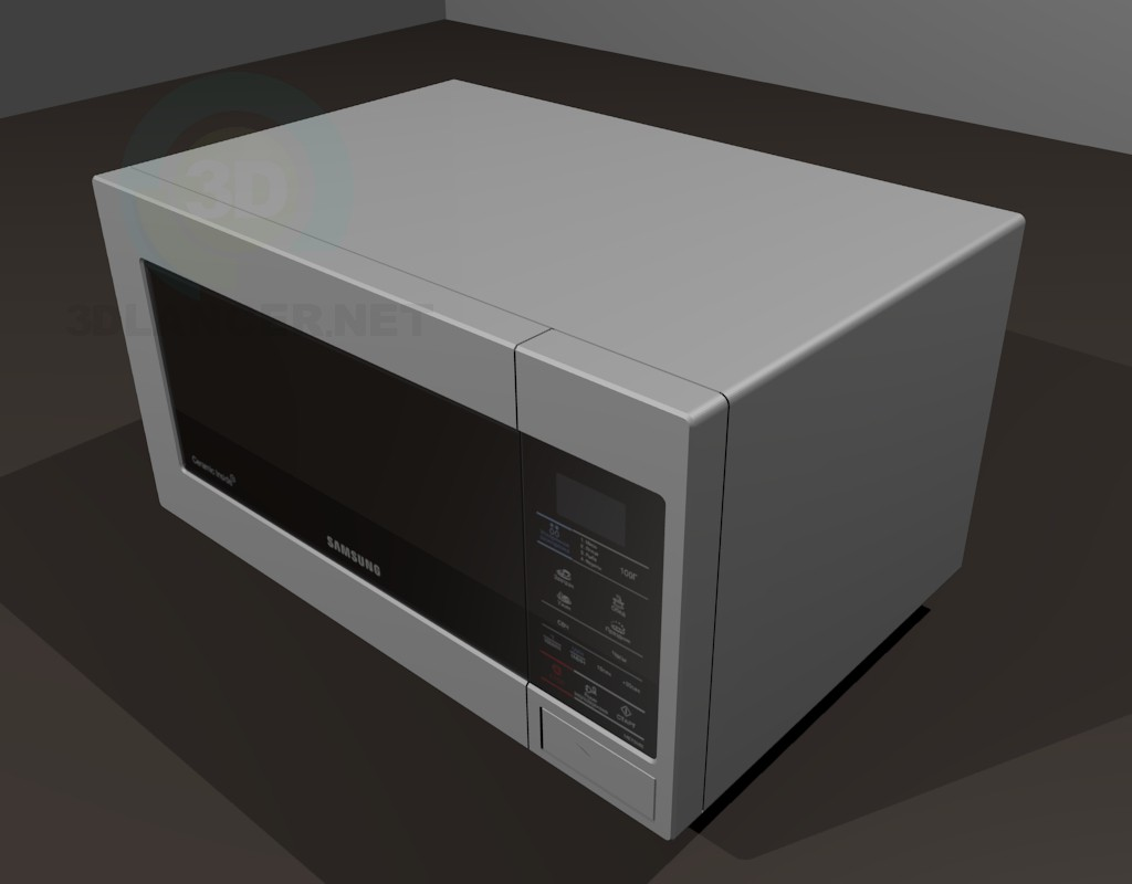 3d model Samsung microwave - preview
