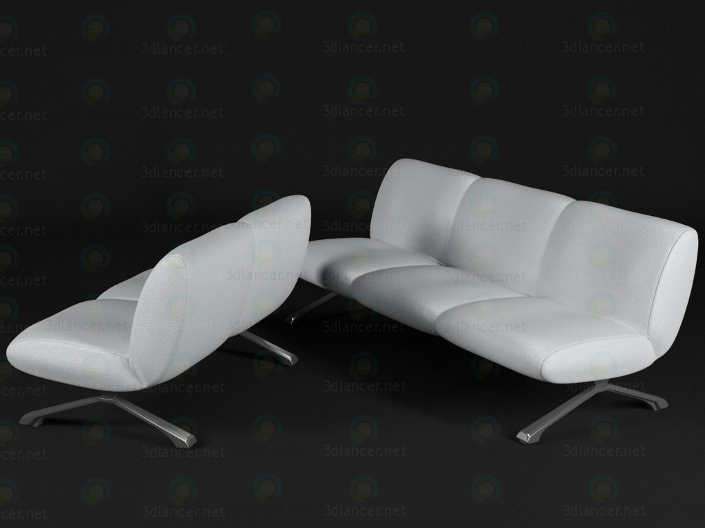 3d моделювання сучасний диван модель завантажити безкоштовно