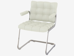Quilted chair with armrests RH-305-52