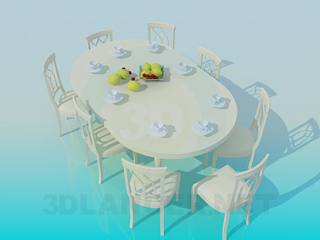 3d modeling Dining table with a rounded lid model free download